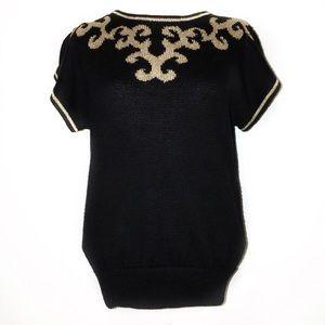 Vintage par le Chois Short Sleeve Sweater
